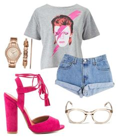"""PrettyPinks"" by heavydressing on Polyvore featuring Miss Selfridge, Qupid, Levi's, Yves Saint Laurent and Folio"