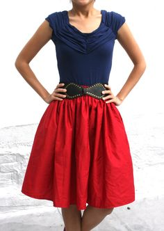 Great red skirt!