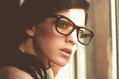 girl with glasses.