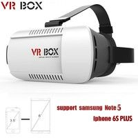 Wish | Professional Google Cardboard VR BOX Virtual Reality 3D Glasses for 4.7 - 6.0 Phone (Color: White)