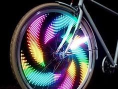 MonkeyLectric -  Bike Wheel Lights for riding at night. Certainly creative, made in the USA and on my wish list!!