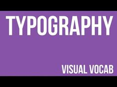 Typography defined - From Goodbye-Art Academy - YouTube