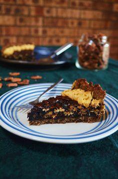 Gormandize: Vegan Pecan & Molasses Pie with Spiced Pumpkin Whipped Cream