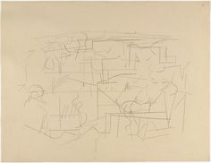 Ellsworth Kelly. Smoke from Chimneys, Automatic Drawing from Rue de Blainville. 1950