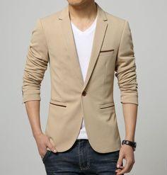Slim Fit Cotton Blazer