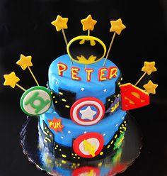 Superheroes Cake!!