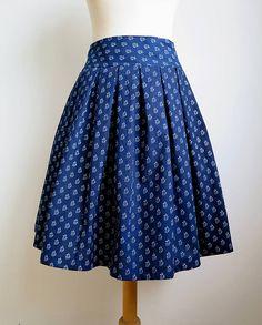 Sukne - sukňa a motýlik z modrotlače - ON a ONA Modrotlačoví  - 6237742_