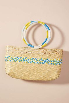 Mochi Susana Tote Bag at Anthropologie [affiliate] Mochi, Cotton Canvas, Straw Bag, What To Wear, Tote Bag, Anthropologie, Totes, Unique Bags, Women's Accessories