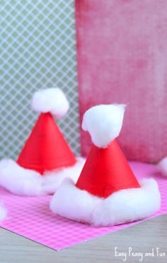 Paper Plate Santa Hats Craft – Christmas Crafts for Kids