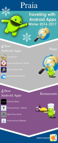 Praia Android apps: Travel Guides, Maps, Transportation, Biking, Museums, Parking, Sport and apps for Students.