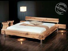 BALKENBETT ORIGINAL - Möbel Waeber Webshop Pallet Beds, Pallet Furniture, Furniture Design, Cama Industrial, Vogue Home, Diy Platform Bed, Diy Bed Frame, Wood Beds, Bed Plans
