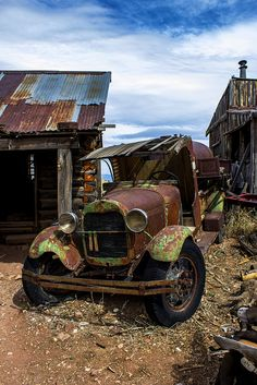 Just missing Jethro at the wheel by GatorPiKA, via Flickr #abandoned #car