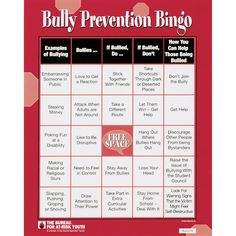 Great activity that will engage the older children into the topics about bullying and prevention. It will show them how to recognize bullying and how to help the victim