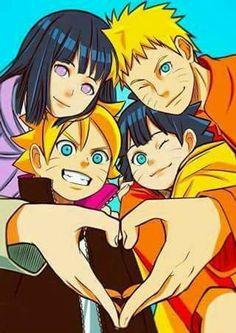 Uzumaki Family: Naruto, Hinata, Boruto, Himawari ♥♥♥