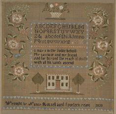 1833 Nancy Russell Sampler