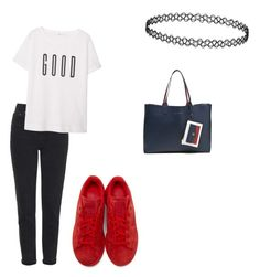 """Untitled #74"" by cariwhitman on Polyvore featuring Topshop, MANGO, adidas Originals and Tommy Hilfiger"