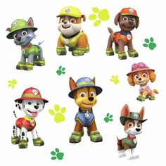 RoomMates Paw Patrol Jungle Peel and Stick Giant Wall Decals Single Sheet, Multi-Colored Los Paw Patrol, Paw Patrol Party, Paw Patrol Birthday, Paw Patrol Marshall, Paw Patrol Wall Decals, Vinyl Wall Decals, Kids Room Wall Decals, Puppy Room, Les Stickers