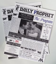 Harry Potter Wedding Invitations! So creative! Love love love Harry Potter but I'm not sure if I'd use it as a theme for a wedding.