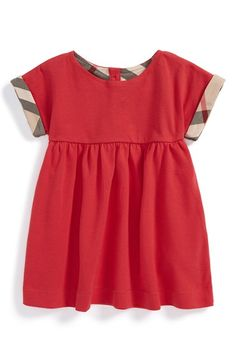 Burberry Short Sleeve Dress (Baby Girls) available at #Nordstrom