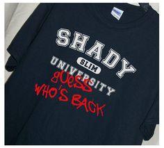Eminem Fans...SHADY UNIVERSITY Guess Who's Back TheStickyWitch on Etsy