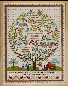 Family Tree of Life Cross Stitch