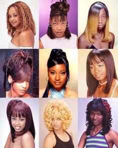 90s Hairstyles, Black Women Hairstyles, Black Hair History, Hair Color For Women, Hair Laid, Black Girl Aesthetic, Curly Hair Styles, Hair Beauty, Hair Ideas
