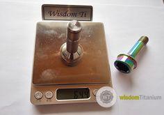 weight of titanium 52mm ferrari bolt J