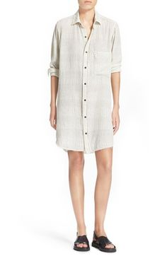 Current/Elliott 'The Untwisted' Cotton Shirtdress