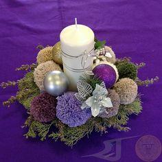 centro de mesa realizado con pompones de lana plantas aromticas bolas de navidad