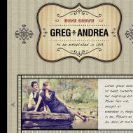 Vintage 1 Template #wedding invitation #digital wedding invitation #electronic wedding invitation #vintage wedding invitation