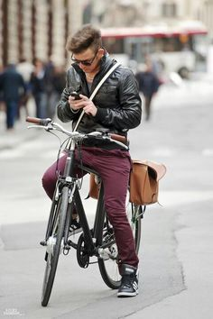 Style in a bicycle..