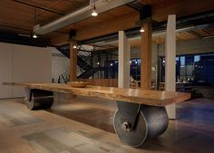 Long Table.: Artist's Studio, Seattle, WA. by: Olson Kundig Architects