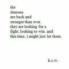 demon, depression, and quote image