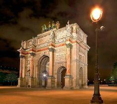The Arc de Triumphe, Paris, France.