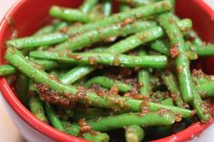 Spicy Sweet Green Beans