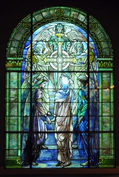 """Tiffany Wilson Window"""" The Righteous Shall Receive a Crown of Glory"""" 