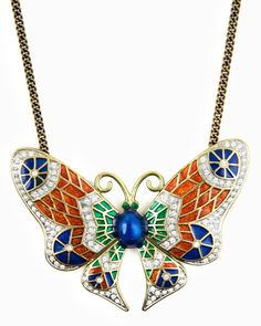 I normally despise butterfly jewelry, but this is pretty. Astrid Butterfly Necklace.