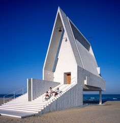 """""""When the tide rises, this space will be submerged by water. At that moment, the imagery of the drifting boat emerges out of the chapel,"""" added the team."""