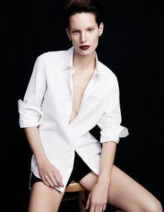 iris strubegger photos4 Iris Strubegger Models Boyish Attire for Vogue Thailand by Simon Cave