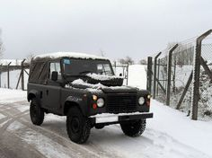 Picking up my Land Rover from the MOD Disposal site, 1st December 2010. I then drove it from Lincolnshire to Bristol (the journey was both faster and cheaper than public transport!)