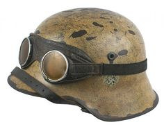 German WWII Afrika Korps helmet, pin by old Paolo Poop Stain Marzioli