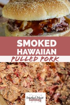 I love pulled pork, and I love pineapple, so combining the two just seems to make sense. I was surprised by how mild the taste of this pulled pork was, compared to more traditional cooking methods I've done in the past. This Hawaiian pulled pork recipe is Pulled Pork Smoker Recipes, Smoked Pulled Pork, Smoked Meat Recipes, Traeger Recipes, Ham Recipes, Milk Recipes, Oven Recipes, Recipes Dinner, Grilling Recipes