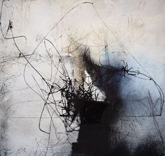 title unknown ~ ink and mixed media (?) ~ by kitty sabatier Abstract Drawings, Abstract Art, Art Blanc, Modern Art, Contemporary Art, Inspiration Art, Calligraphy Art, White Art, Abstract Expressionism