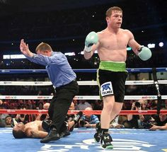 Saul 'Canelo' Alvarez after his impressive KO of James Kirkland, one of the finest knock outs of 2015