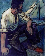 https://www.centrepompidou.fr/id/cqLezG/rdLk8jb/fr Francis Picabia, Pecheur assis devant la mer, 1935/1936 - @CentrePompidou Paris