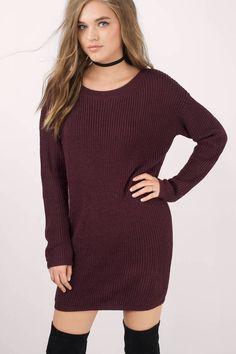 Second Look Sweater Dress at Tobi.com #shoptobi