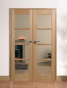 Internal double oak doors
