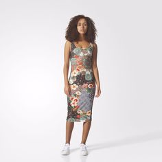 Women's Adidas Originals Jardim Agharta Dress [Br5130] Multi-Color
