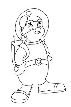 Coloring page 1 from Penguin Brother Adventures https