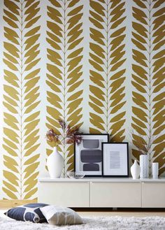 MALVA WALLPAPER This graphic trailing branch from Scion's Lohko collection is printed onto a non-woven wallpaper for ease of hanging.